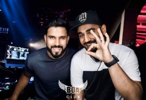 DJ Keza and DJ Bliss at BOA club Dubai