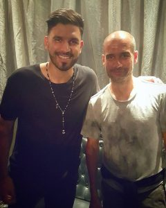 DJ Keza and Pep Guardiola in Doha