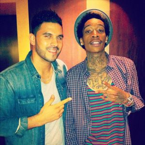 DJ Keza and Wiz Khalifa in Dubai