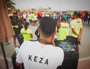DJ Keza playing for NRC Nike app in Dubai