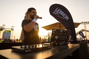 DJ Keza playing for the NBA Lebron James campaign in Dubai