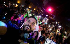 DJ Keza selfie New Year event in Kuala Lumpur