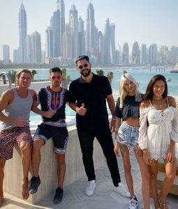 Les Anges 12 avec le Parrain DJ Keza à dubai avec Virgil, Hagda, Kevin et Cloe