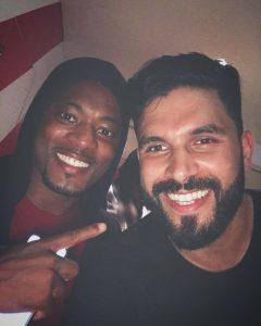 Patrice Evra and DJ Keza in Dubai