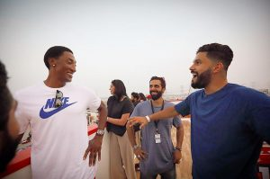 Scottie Pippen and DJ Keza in Dubai attending SOLE DXB at Nike